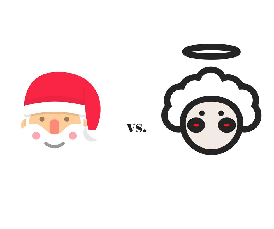 Weihnachtsmann versus Christkind