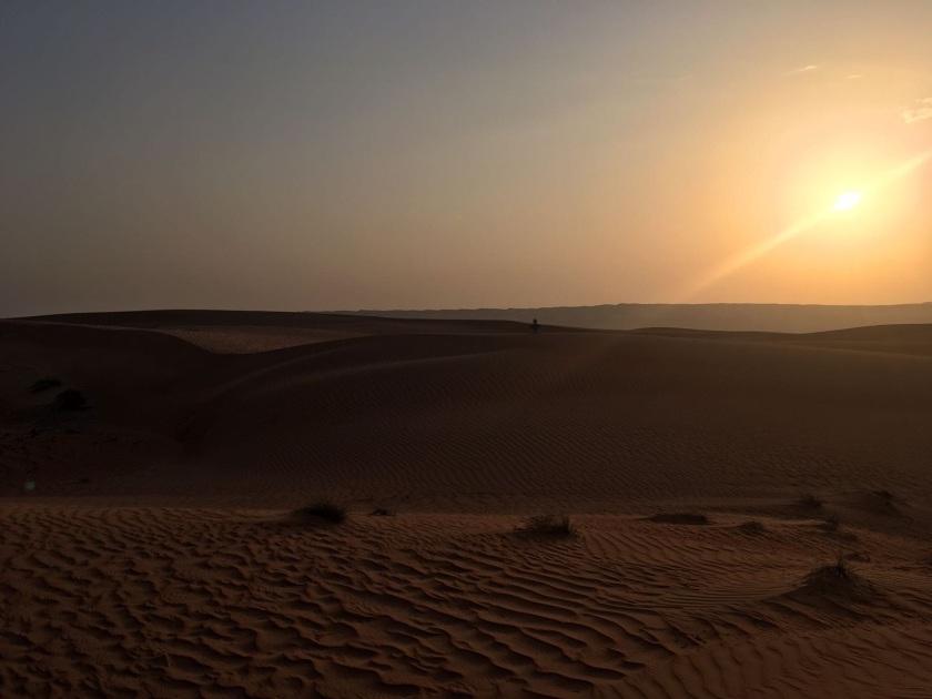 Baby in der Wüste