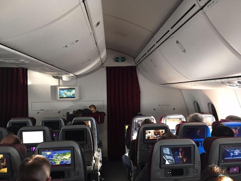 Babybett im Flugzeug