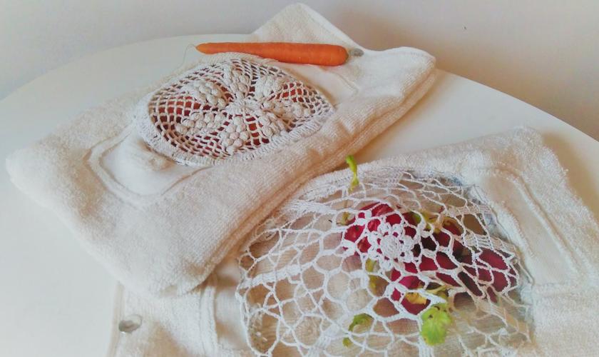 DIY Beutel für Gemüse aus Stoffresten